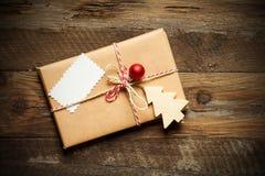 Rocznika prezenta pudełko Fotografia Royalty Free
