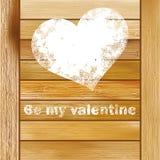 Rocznika prezenta pudełko z sercem. + EPS8 Zdjęcie Royalty Free