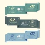 Rocznika projekt Przylepia etykietkę infographic template.vector Obrazy Royalty Free
