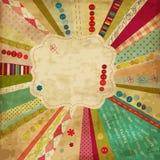 Rocznika projekt złomowy szablon Obraz Royalty Free