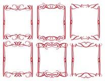 Rocznika projekta dekoracyjna granica Zdjęcia Royalty Free