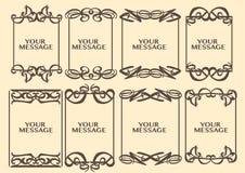 Rocznika projekta dekoracyjna granica Zdjęcie Stock