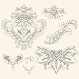 Rocznika projekta elementy Obrazy Royalty Free