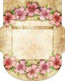 Rocznika projekta koperta, rżnięty kopertowy szablon Zdjęcie Stock