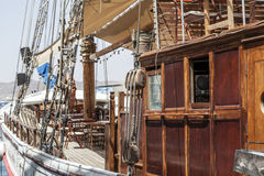 Rocznika Przyglądający statek Zdjęcie Royalty Free