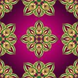 Rocznika purpurowy wielostrzałowy wzór ilustracji