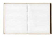 Rocznika pustego miejsca otwarty notatnik obraz stock