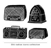 Rocznika radia set, wektorowa ilustracja Obraz Royalty Free