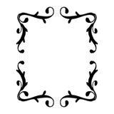 Rocznika ramowy czerń na bielu Zdjęcie Royalty Free