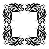 Rocznika ramowy czerń na bielu Zdjęcia Royalty Free