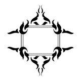Rocznika ramowy czerń na bielu Fotografia Royalty Free