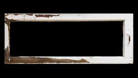rocznika ramowy nieociosany okno Fotografia Stock