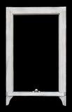 rocznika ramowy nieociosany okno Zdjęcia Stock