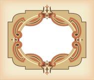 Rocznika ramowy szablon w brown kolorach Zdjęcie Stock