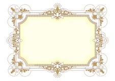 Rocznika Ramowy wektor 1006 Obraz Royalty Free