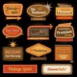Rocznika retro etykietki znaki Zdjęcie Royalty Free