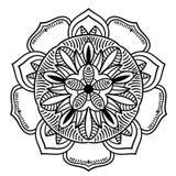 Rocznika retro ornamentacyjny mandala Round symetryczny wzór ilustracja wektor