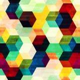 Rocznika rhombus bezszwowy wzór z grunge skutkiem Zdjęcie Royalty Free