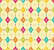 Rocznika rhombus wzór Obraz Royalty Free