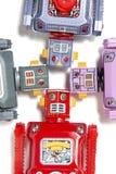 Rocznika robota blaszane zabawki Zdjęcie Royalty Free