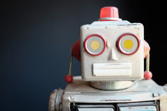 Rocznika robota Machinalna zabawka obraz royalty free