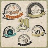 Rocznika 20 rocznicy kolekcja. royalty ilustracja