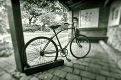 rocznika rowerowy czarny biel Obraz Stock