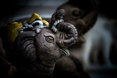 Rocznika słonia głowy stiuk Fotografia Stock