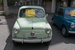 Rocznika 50, 60 - ` s Fiat samochód Obrazy Royalty Free
