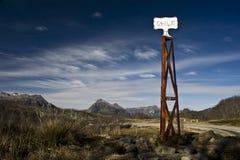Rocznika słup graniczny, Chile Fotografia Stock