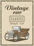 Rocznika samochód ilustracji