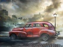 Rocznika samochód, Hawańska fantazja Zdjęcia Royalty Free