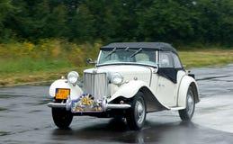 Rocznika samochód MG-TD-MK II - prędkość test Zdjęcia Royalty Free