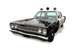 Rocznika Samochód Policyjny Obrazy Royalty Free