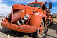 Rocznika samochód strażacki Zdjęcia Royalty Free