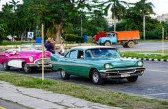 Rocznika samochód w Hawańskim Obraz Royalty Free