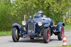 Rocznika samochód wyścigowy wojenny samochód wyścigowy Alfa Romeo zdjęcia stock