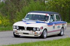 Rocznika samochód wyścigowy Triumfu Dolomit Sprint od 1979 Zdjęcie Stock