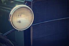 Rocznika samochodowy reflektor z retro skutkiem Zdjęcia Stock