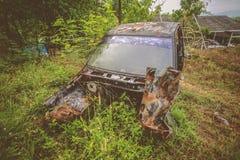 rocznika samochodowy wrak Fotografia Royalty Free