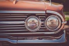 Rocznika samochodu reflektor zdjęcia royalty free