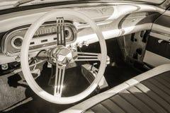 Rocznika samochodu wnętrze Obrazy Royalty Free