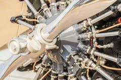 Rocznika samolotu śmigła silnik zdjęcie royalty free