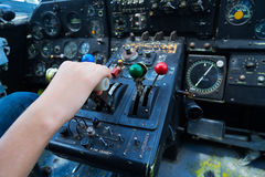 Rocznika samolotu deska rozdzielcza Fotografia Royalty Free