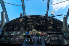 Rocznika samolotu deska rozdzielcza Obraz Royalty Free
