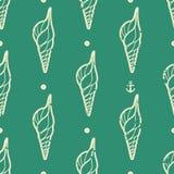 Rocznika seashell wzór Zdjęcie Stock