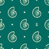 Rocznika seashell wzór Obrazy Stock