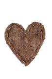 Rocznika serce z bieliźnianą nicią Fotografia Royalty Free