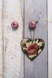 Rocznika serce z różami Zdjęcie Royalty Free