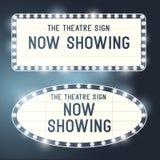 Rocznika Showtime znaki Obraz Stock